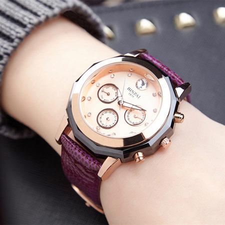 聚利时时尚太阳纹手表 女士腕表