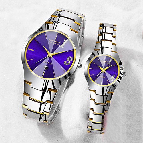 韩版时尚情侣石英手表